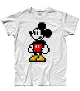 Topolino t-shirt uomo in versione pixel