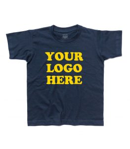 your logo here t-shirt bambino non personalizzabile
