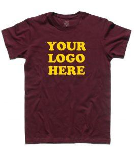 your logo here t-shirt uomo non personalizzabile