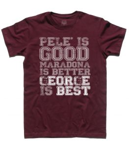 george best t-shirt uomo con scritta pelè is good maradona is better george is best
