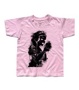 biancaneve t-shirt bambino raffigurante la principessa con in mano la mela logo della Apple