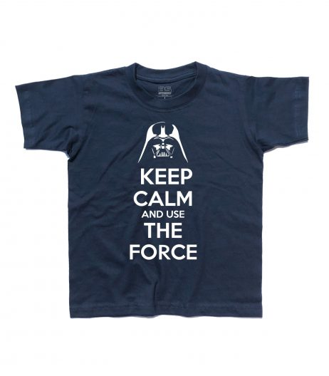 keep calm star wars t-shirt bambino con scritta keep calm and use the force