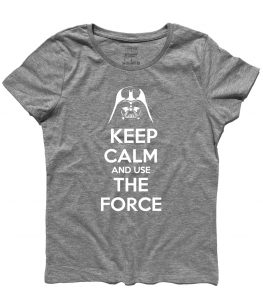 keep calm star wars t-shirt donna con scritta keep calm and use the force