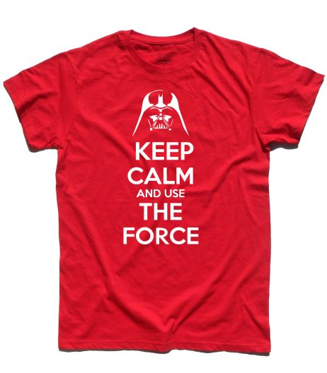 keep calm star wars t-shirt uomo con scritta keep calm and use the force
