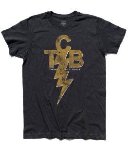 TCB - taking care of Business - Elvis Presley logo T-shirt uomo Nera