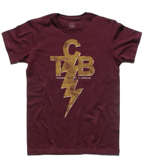 TCB - taking care of Business - Elvis Presley logo T-shirt uomo Bordeaux
