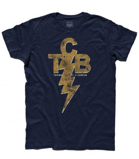 TCB - taking care of Business - Elvis Presley logo T-shirt uomo Blu Navy