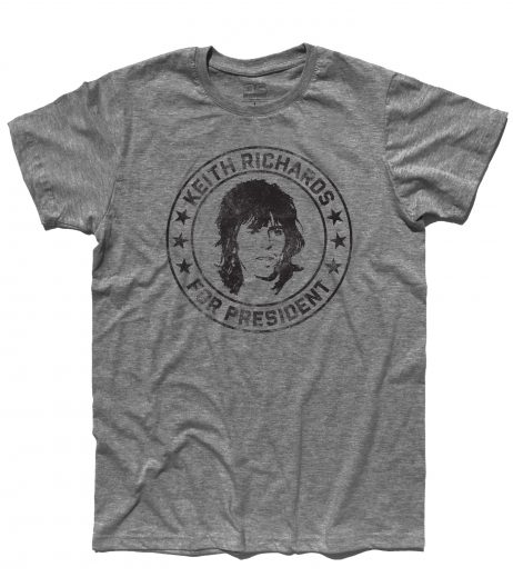 Keith Richards for President t-shirt uomo gialla - Votate per lui! | 3stylershop.it